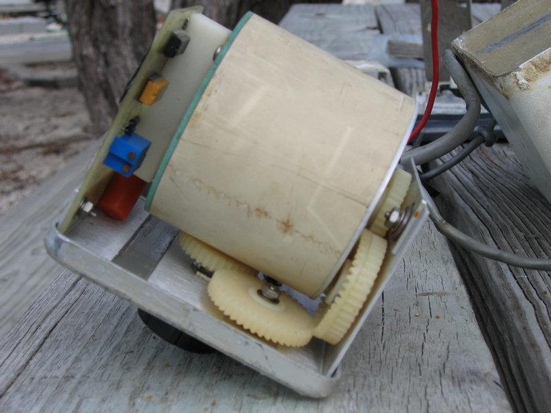 s v soggy paws csy steering systems compass unit nylon gears compass in pvc tube starboard block holds contacts to transfer heading signal from compass to circuit board