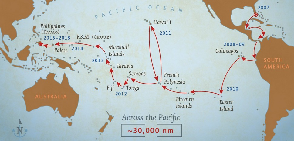 Our Route from Florida to the Philippines