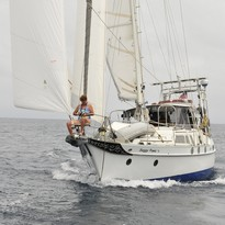Sailing in the Galapagos